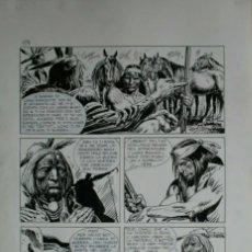 Comics : JOSE ORTIZ. TEX. LOS CAZADORES DE FÓSILES. PÁGINA ORIGINAL. Lote 265138729