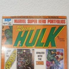 Cómics: PORTAFOLIO - MARVEL SUPER HERO PORTFOLIOS - INCREDIBLE HULK - SQP - 1980 - FASTNER & LARSON. Lote 265471789