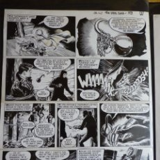 Cómics: PAGINA ORIGINAL JESUS BLASCO, ZARPA DE ACERO (STEEL CLAW) 1967. Lote 266865204