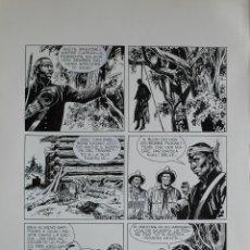 Comics: JOSE ORTIZ. TEX. EL ORO DEL SUR. PÁGINA ORIGINAL. Lote 267120039