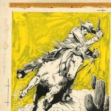 Fumetti: PORTADA ORIGINAL DE ANTONIO MÁS - PORTADA HAZAÑAS DEL OESTE N.96, EDITORIAL TORAY 1965. Lote 271098738