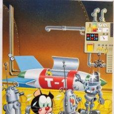 Fumetti: DIBUJO ORIGINAL COLOR LIBROS PUMBY Nº 29 LOS ROBOTS DEL CAPITAN LOBO SANCHIS M9. Lote 271123498