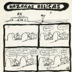 Cómics: DIBUJO ORIGINAL DE IVÀ - HAZAÑAS BÉLICAS, EL PAPUS N.50 P.8, AÑO 1980. Lote 272195198