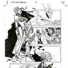 Cómics: DIBUJO ORIGINAL DE CARLOS MEGLIA - SUPERMAN / TARZÁN P.9, DC. Lote 272386493