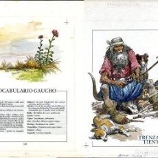 Cómics: DIBUJO ORIGINAL DE CARLOS ROUME - JOSÉ HERNÁNDEZ - MARTÍN FIERRO, COLECCIONES CELEBRES P.160-161. Lote 273076188