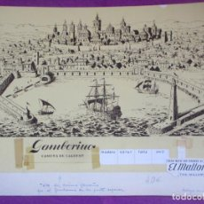 Fumetti: DIBUJO ORIGINAL PINTADO A MANO GAMBORRINO CAMISA DE CALIDAD EL MALLORQUIN. Lote 276688038