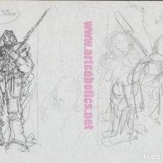 Fumetti: DIBUJO ORIGINAL DE ALFONSO AZPIRI: BOCETO AÑOS 1970. Lote 278319198