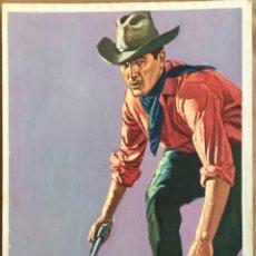 Cómics: DIBUJO ORIGINAL JORGE NÚÑEZ SEGURA PORTADA NOVELA OESTE WESTERN SELECCIONES ILUSTRADAS. Lote 278470878