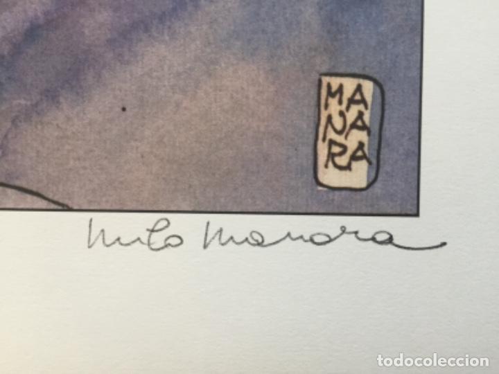 Cómics: Póster Erótico de MILO MANARA Firmado a Lápiz - Foto 2 - 278481283