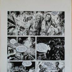 Fumetti: JOSE ORTIZ. TEX. EL ORO DEL SUR. PAGINA ORIGINAL. Lote 281815993