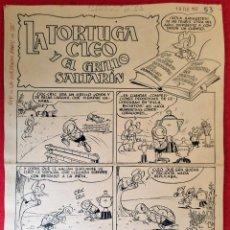 Comics: DIBUJO ORIGINAL PLUMILLA LICERAS LA TORTUGA CLEO Y EL GRILLO SALTARIN 6 HOJAS O PLANCHAS M10. Lote 287346153