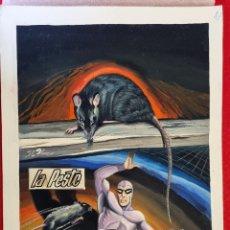 Cómics: DIBUJO ORIGINAL COLOR PORTADA EL HOMBRE ENMASCARADO Nº 17 LA PESTE J.L. BLUME M10. Lote 287363823