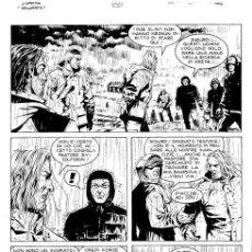 """Cómics: DAMPYR N. 34 - M.DOTTI - TAVOLA ORIGINALE """"LA CAVERNA DEI TROLL"""". Lote 287813183"""