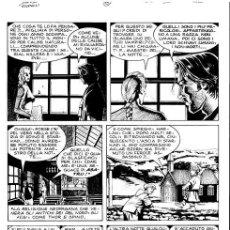 "Cómics: DAMPYR N. 34 - M.DOTTI - TAVOLA ORIGINALE ""LA CAVERNA DEI TROLL"" SERGIO BONELLI EDITORE 23 CM X 3 CM. Lote 287813223"