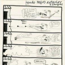 Cómics: DIBUJO ORIGINAL DE L'AVI - MANOLOOO!!, EL PAPUS N.188 P.21, AÑO 1977. Lote 288890903