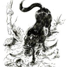 """Fumetti: ILUSTRACIÓN ORIGINAL INKTOBER DE MITOLOGÍA CATALANA """"EL DIP"""" POR JODRI. Lote 290751248"""
