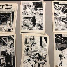 Fumetti: A. RAJA ENRICH - REPTILES DEL MAL. 48 PÁGINAS ORIGINALES. CÓMIC SCIFI. Lote 293312543