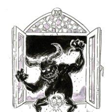 """Cómics: ILUSTRACIÓN ORIGINAL INKTOBER DE MITOLOGÍA VALENCIANA """"BUTONI"""" POR JODRI. Lote 294385918"""