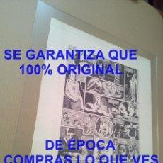 Cómics: 500X400 MM NAZARIO LUQUE COMIC TATUAJE GRABADO NUMERADO FIRMADO Y DEDICADO A GRAFITO C6. Lote 294456058