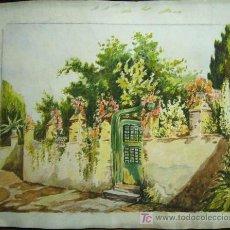 Arte: 1393.- DOS ACUARELAS DOS CARAS 17X21 ,,, PAISAJE,,, S.AMARGANT. Lote 27501632