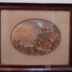 Arte: ACUARELA ORIGINAL , FIRMADA Y FECHADA EN 1904. Lote 21010502