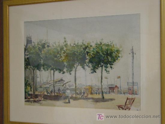 TORTOSA- BENET DOMINGO- BARCELONA (Arte - Acuarelas - Contemporáneas siglo XX)
