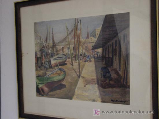 TORTOSA-BENET DOMINGO-BARCELONA, BARCELONETA (Arte - Acuarelas - Contemporáneas siglo XX)