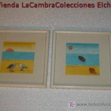 Arte: GRACIOSA PAREJA DE ACUARELAS ENMARCADAS, FIRMADAS, AÑOS 70/80, .. Lote 6439302