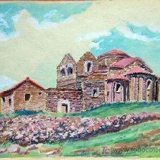 Arte: 1649.- ACUARELA 18X26 ,,, ATRIBUIDO A S. AMARGANT ,,, LA MOLA DE SANT LLORENÇ DEL MUNT . Lote 24981084