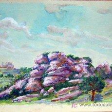 Kunst - 1651.- Acuarela 18x26 ,,, Atribuido a S. Amargant ,,, Aproximació a La Mola , Sant Llorenç del Munt - 24981082