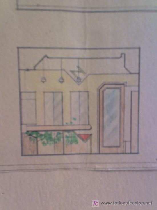 Arte: PLANO calle Castaños Aicante ACUARELA CARTEL ANTIGUO JOYERIA FIRMA F. NAVARRO SORIA - Foto 2 - 26032725