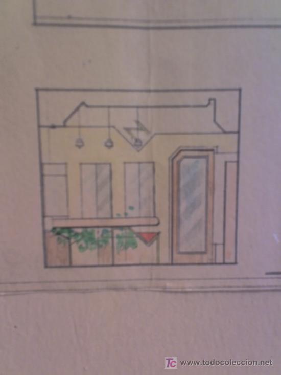 Arte: PLANO calle Castaños Aicante ACUARELA CARTEL ANTIGUO JOYERIA FIRMA F. NAVARRO SORIA - Foto 4 - 26032725