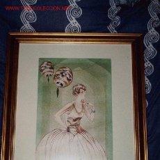 Arte: PRECIOSA ACUARELA ORIGINAL DE DAMA ART DECO DE POMAREDA C. 1925. Lote 27023526