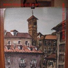 Arte: MADRID. ACUARELA. IGLESIA SAN PEDRO EL REAL, C/ SEGOVIA.. Lote 26812675