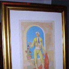Arte: 1053 MIXTA COLOR 71X56,, TORERO,, ISIDRE R. DE CASAS . Lote 26036374