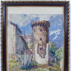 Arte: CASTELLDEFELS, 1930. FIRMADO: FELIX BUTTNER. TAMAÑO MARCO:36 X 27 CM. ACUARELA: 27 X 21 CM.. Lote 16036302