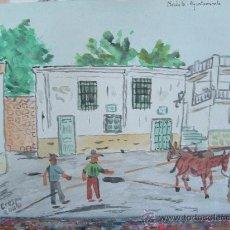 Arte: ALPUJARRA , NECHITE ,ACUARELA, 20X30,DE CRESPO.. Lote 16411564