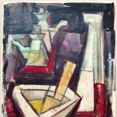 Arte: 1996.- ACUARELA LÁPIZ 24X33 ISIDRE R. DE CASAS . BODEGO COCINA. Lote 24310008