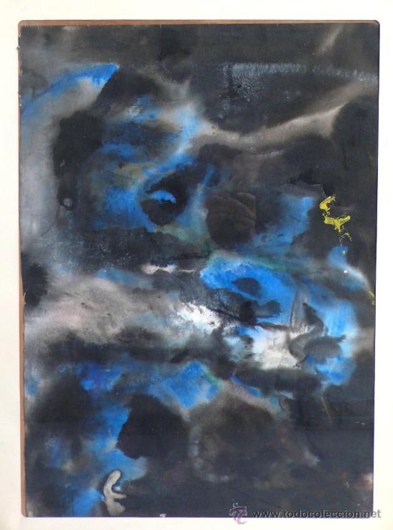 Arte: acuarela sobre papel. firmado: BIGAS (padre del director de cine Bigas Luna) 48 x 67 cm. marco:68x89 - Foto 2 - 24228215