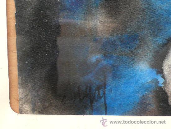 Arte: acuarela sobre papel. firmado: BIGAS (padre del director de cine Bigas Luna) 48 x 67 cm. marco:68x89 - Foto 3 - 24228215
