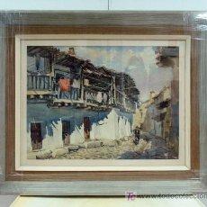 Arte: ACUARELA ORIGINAL ALFONSO GONZALEZ COCHO 1958 PUEBLO DE CASTILLA 44 X 59 CM SIN EL ENMARCADO. Lote 26398645