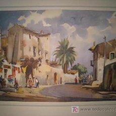 Arte: LAMINA CON ACUARELA DE GUILLEM FRESQUET (REPRODUCCION). Lote 13429377