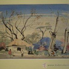 Arte: . ACUARELA ORIGINAL DE ROCA DELPECH. Lote 24399966