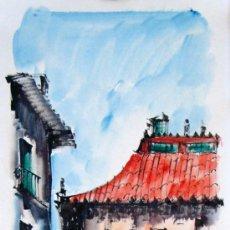 Kunst - ACUARELAS DE MADRID FIRMADAS. ROMERO - 27508768