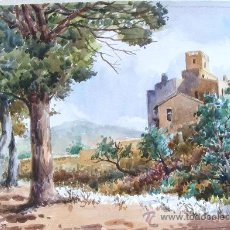 Arte: ACUARELA , AMÉN ZUARÉZ , SANT PERE DE RIBAS - MEDIDAS 50 X 36 CM.. Lote 24612950