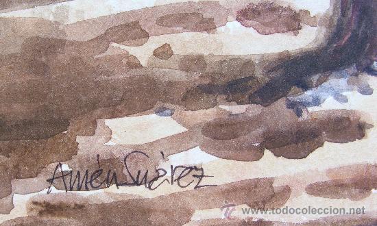 Arte: ACUARELA , AMÉN ZUARÉZ , SANT PERE DE RIBAS - MEDIDAS 50 X 36 CM. - Foto 2 - 24612950