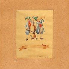 Arte: BONITA ACUARELA REPRESENTANDO UNOS MUSICOS - FIRMADA POR ERNST STAUFENHOFER. Lote 26599289