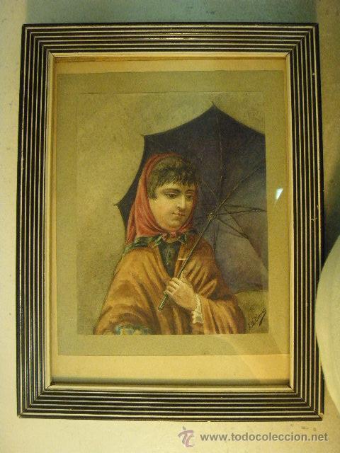 J. M. COMAS - ACUARELA (Arte - Acuarelas - Contemporáneas siglo XX)