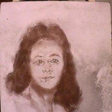 Arte: OG0065 DIBUJO GUMERSINDO SAINZ. RETRATO CHICA. IDEAL PARA RESTAURADORES. Lote 27169565