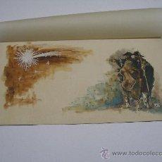 Arte: ACUARELA ORIGINAL FIRMADA POR ALDA . FELICITACIÓN NAVIDEÑA 34X18 CMS .. Lote 22338468